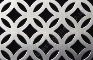 Inner Circular Silver Decorative Grille Anodised Aluminium Sheet 1000mm x 660mm x 1mm